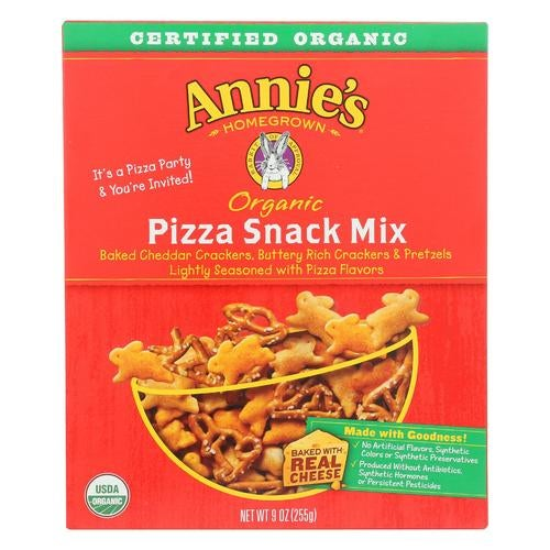 Annie's Homegrown Organic Pizza Snack Mix - Case Of 12 - 9 Oz.