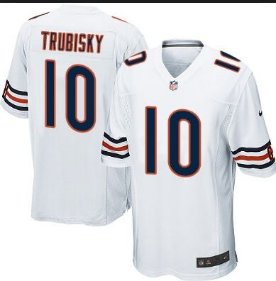 Chicago Bears #10 trubisky white Youth Jersey