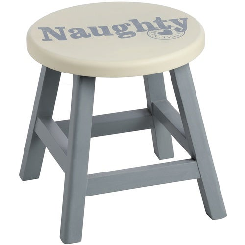 Hill Interiors Wooden Naughty Stool