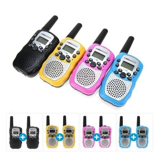 2Pcs T-388 3-5KM 22 FRS and GMRS UHF radio for Child Walkie Talkie Two-Way Radio Transceiver