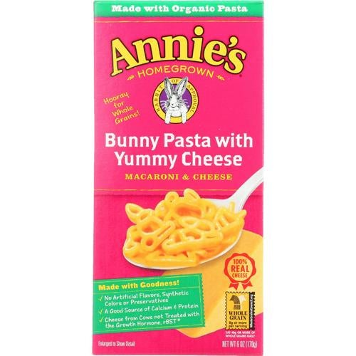 Annie's Homegrown Annies Homegrown Macaroni And Cheese - Organic - Bunny Pasta With Yummy Cheese - 6 Oz - Case Of 12