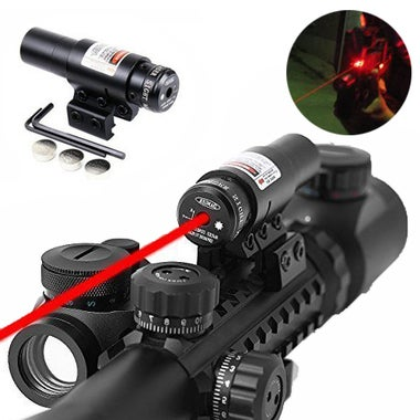 Mini Adjustable Visible Tactical Red Dot Laser Scope Sight 11mm 21mm Rail