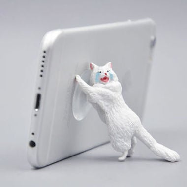 Universal Cartoon Animal Cat Model Sucker Cell Phone Bracket Stand Holder  2018