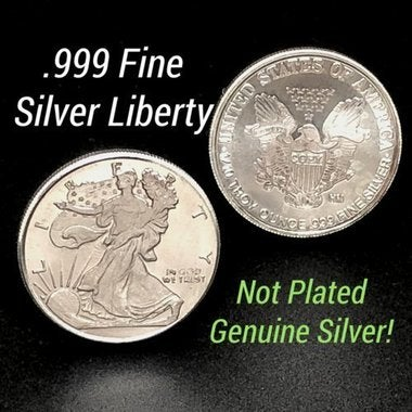 1 Gram .999 Fine Pure Silver Mini Walking Liberty