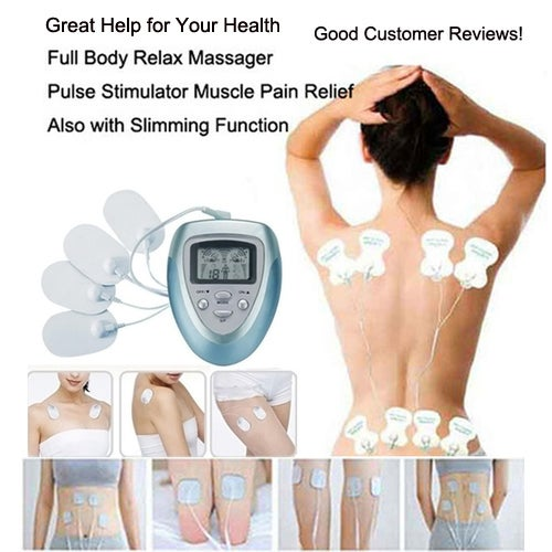 Digital Meridian Massager Home Use Pulse Physiotherapy Instrument Machine Muscle Relax Pain Relief Fat Burning Massage Slimming Therapy Healthy Care Massager