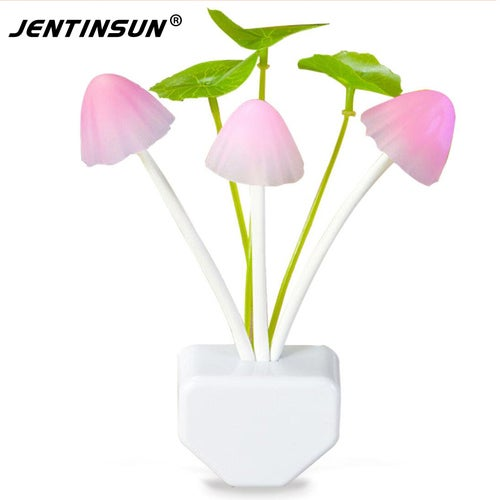 US/EU Plug Changeable Colorful LED Lamps Mushroom Night Light Bed Lamp Home Illumination Wireless Light Sensor Automatic Startup