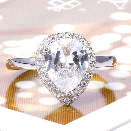 Marvellous White Sapphire Sterling Silver 925 Ring