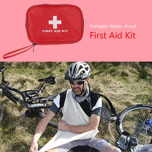 Carevas 40PCS Compact First Aid Kit for Car Outdoor Home Camping All Purpose Emergency Medical Bag Water-Proof Treatment Case with Zipper FDA Approved