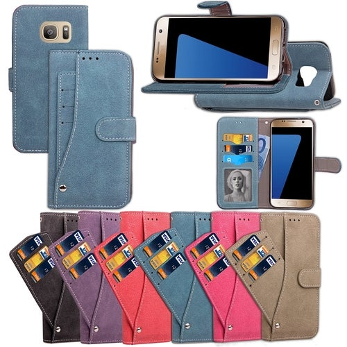 Fashion Cell Phone Wallet Purse Case Cover For Samsung Galaxy S8 Plus Galaxy S8 Android S7 Edge iPhone 7 Plus iPhone 7 6 6S Plus Luxury With Credit Card Slot Cash Photo Slots Holder Kickstand Mobile PU Leather Bag Protection Cases