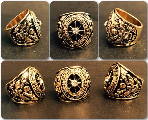 (Babe Ruth) 24Kt Gold Clad 1927 NEW YORK YANKEES World Series Championship Ring Replica Size 11