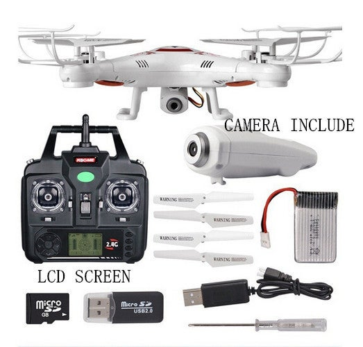 Fashion95 X5C Flying Aircraft With Camera 2.4G RC Helicopter Drone HD Remote Control 6 Axis Gyro