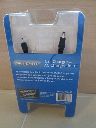 Car & AC Charger 2 in 1 Wireless Gear Nokia Model AU483 Rapid Charging