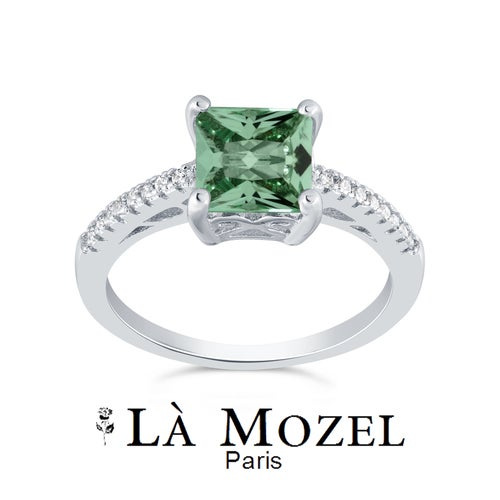 Limited Anniversary Edition 2.00 Carat Highly Graded Green Stone Cushion Cut Ring