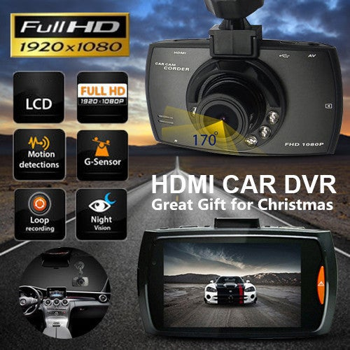 Free Shipping Great Gift for Christmas Car DVR Dash Camera Night Vision cam Vehicle Traveling Date Recorder Tachograph