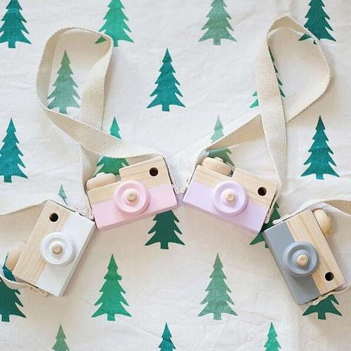 1 Pcs Cute Wooden Camera Cameras Toy Children's Travel Home Decor Children Kids Gifts