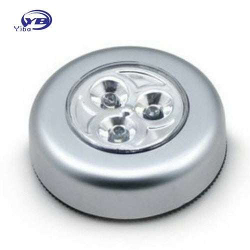 3LED Touch Night Light Mini Wall Lamp Home Kitchen Under Cabinet Closet Cordless Stick Tap Cabinet Light