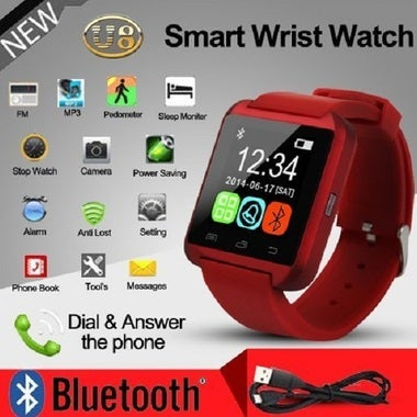 Smartwatch Unlocked Watch Cell Phone All in 1 Bluetooth for iPhone Android Black