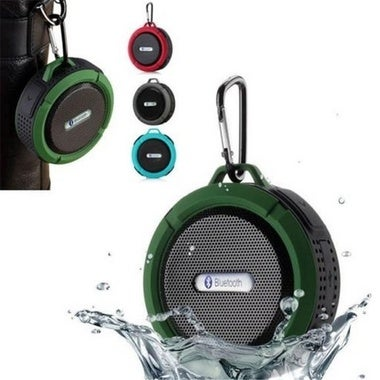 Mini Wireless Bluetooth Speaker 5W Waterproof Shockproof + Suction Cup