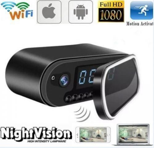 HD WIFI 1080P Hidden Clock SPY Camera IR Night Vision Motion Detection Video