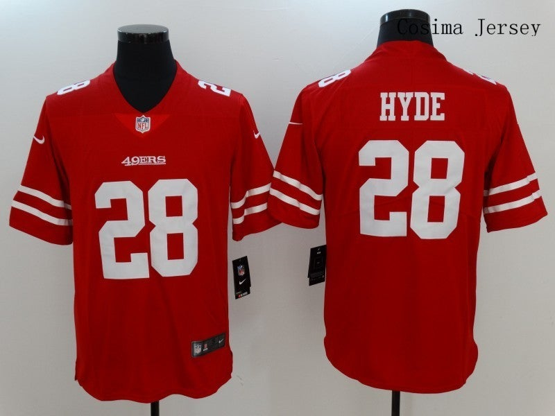 San Francisco 49ers #28 Carlos Hyde Jersey Red