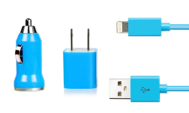 iPhone 5/5S Charging Kit (car and home)