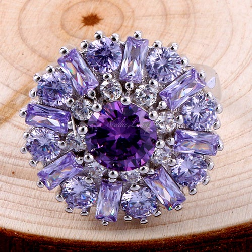 Amazing Amethyst Sterling Silver 925 Ring