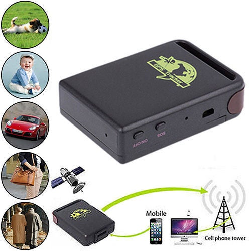 Small Spy Vehicle Real time Tracker For GSM GPRS GPS System Tracking Device TK102 Color Black