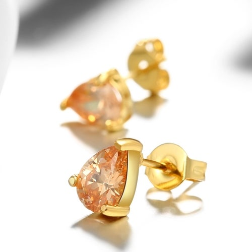Real Gold Plated Earrings For Women New Fashion Jewelry