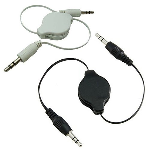 3.5mm Male to Male Aux Auxiliary Retractable Cable Cord for Tablet Phone MP3 MP4