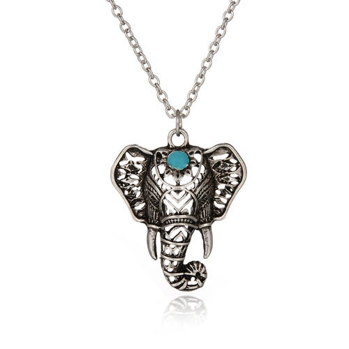 Folk-custom Hollow Thai Silver Short Clavicle Chain Elephant Necklace
