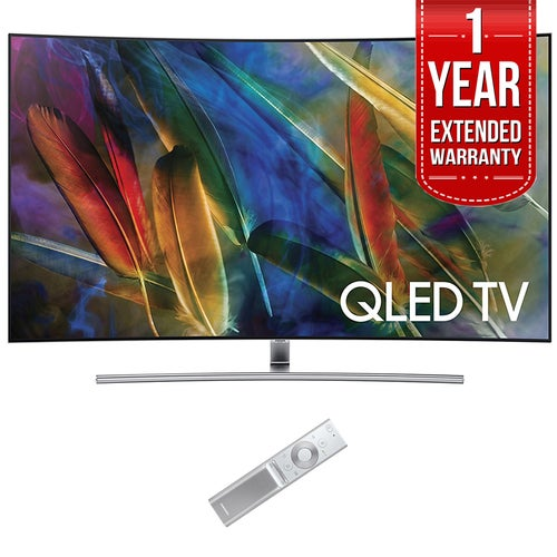 Samsung Curved 55 4K Ultra HD Smart QLED TV (2017) w/ 1 Year Extended Warranty