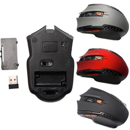 New 2.4Ghz Mini Portable Wireless Optical 2000DPI Adjustable Professional Gaming Game Mouse Mice For PC Laptop Rondaful Flag Store