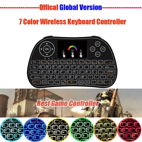 RGB Backlight Wireless Keyboard Smart Home Remote Control 2.4GHZ Air Mouse Touchpad Li-ion battery For TV Box/Smart TV/Mini PC