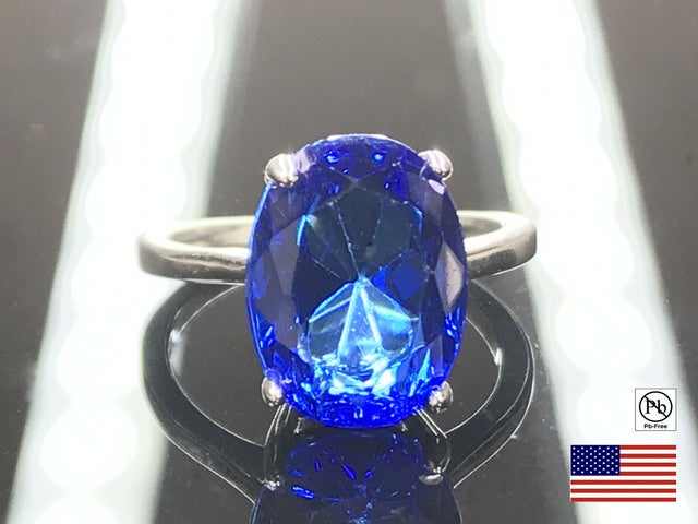 CZ on Silver Overlay Ring. Size 7, 8 or 9.
