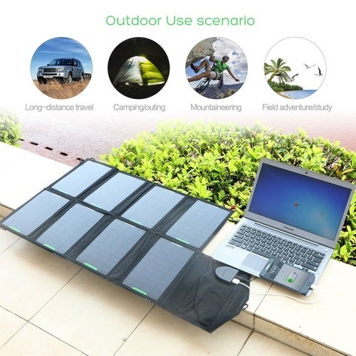 28W Portable Solar Panel Charger Backup For Laptops iPhone Samsung  LG Huawei Blackberry