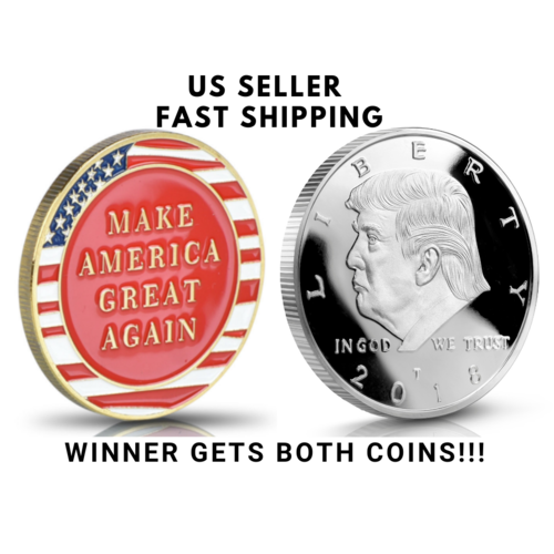 Donald Trump Challenge Coin 2018 -  999 Silver Plate