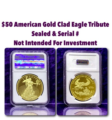 $50 American Gold Clad Eagle Tribute Coin