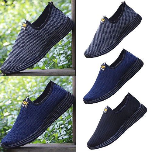 Summer New Men'S Lazy Shoes Men Casual Shoes To Help Low Mesh Breathable Shoes