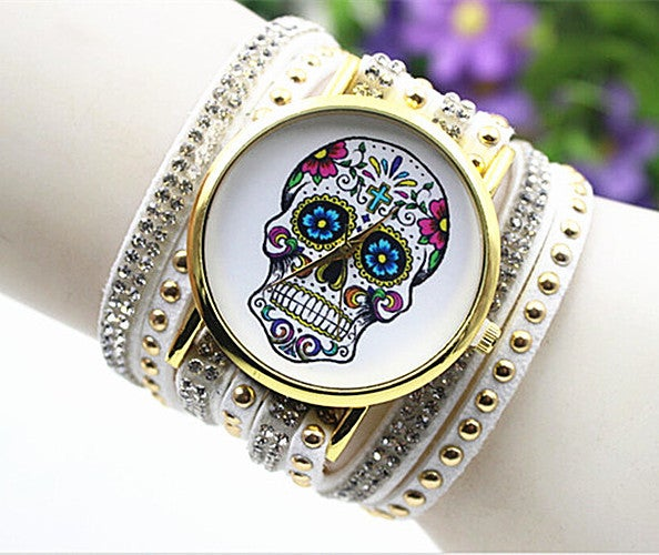 Halloween Skull Bracelet Style Women Watch