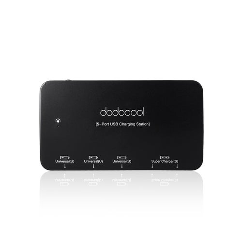 dodocool Smart USB 5 Port Super Charger 36W for iPad iPhone Samsung Tablet Android Smartphone