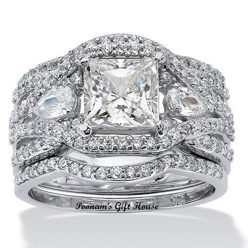 Total 5.62 Carat Laxury High Quality Engagement Ring