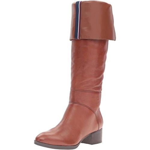 Tommy Hilfiger Womens Gianna Stacked Heel Over-The-Knee Boots