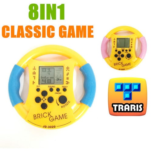 Childhood Classic Tetris Game Hand Held LCD Electronic Game Toys Fun Brick Game Riddle Handheld Game Console
