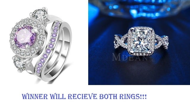 Winner will get both of these sterling silver AAA CZ rings!!!  Size 7,8,9 only