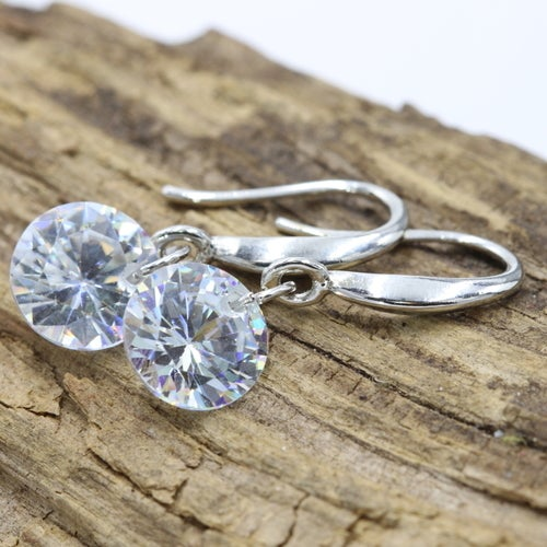 High Quality Crystal Platinum Plated Earrings For Women