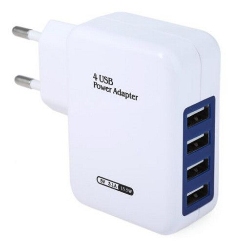1 pcs 4 USB Ports EU Plug Wall Charger Charging Adapter for Travel Home