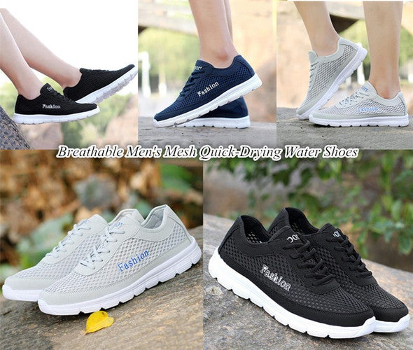 Breathable Men's Mesh Quick-Drying Water Shoes Casual Running Shoes Sneakers