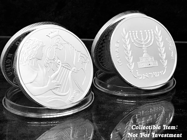 David Playing For Saul *Biblical Art Series Coin* .999 Silver Clad
