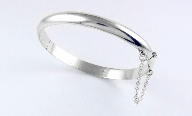 .925 Solid Sterling silver 7mm Bangle