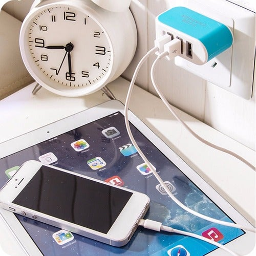 Triple USB Port Wall Home Travel AC Power Charger Adapter 3.1A EU Plug
